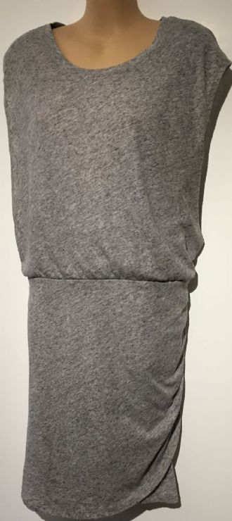 H&M MAMA GREY JERSEY SLEEVELESS NURSING DRESS SIZE S 10